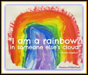 Rainbow Painting Quote